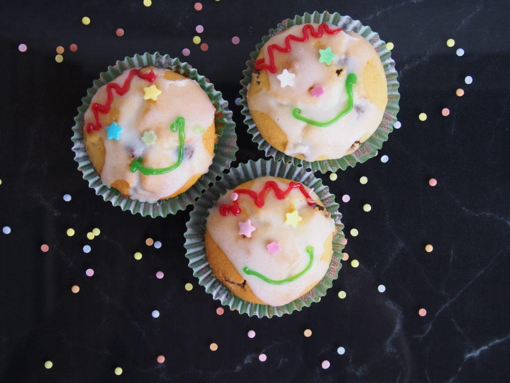 Muffins-mit-Verzierung-für-Kids