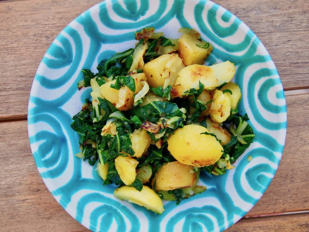 Kartoffeln mit Mangold