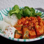 Curry mit Süßkartoffel Zucchini Kichererbsen