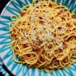 Pasta mit Chorizo-Käse-Sauce
