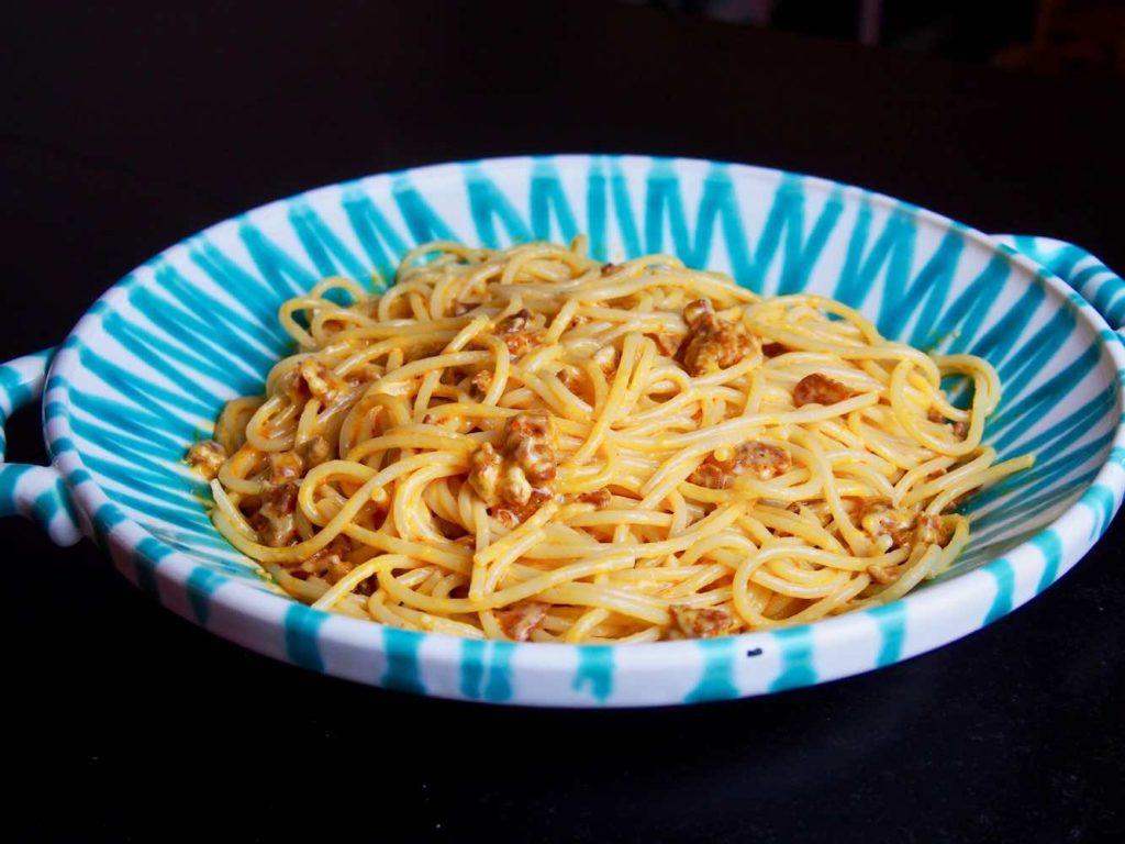 Pasta mit Chorizo und Käse