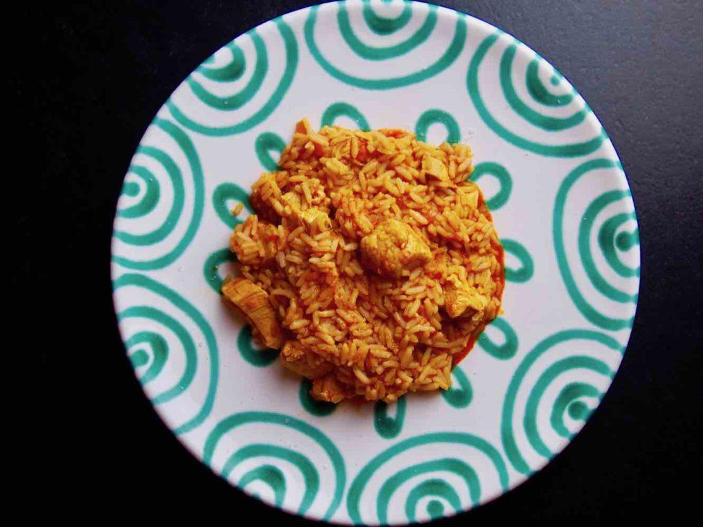 Reisfleisch mit Huhn