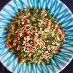 Einkornreissalat mit Ofengemüse und Kräutern