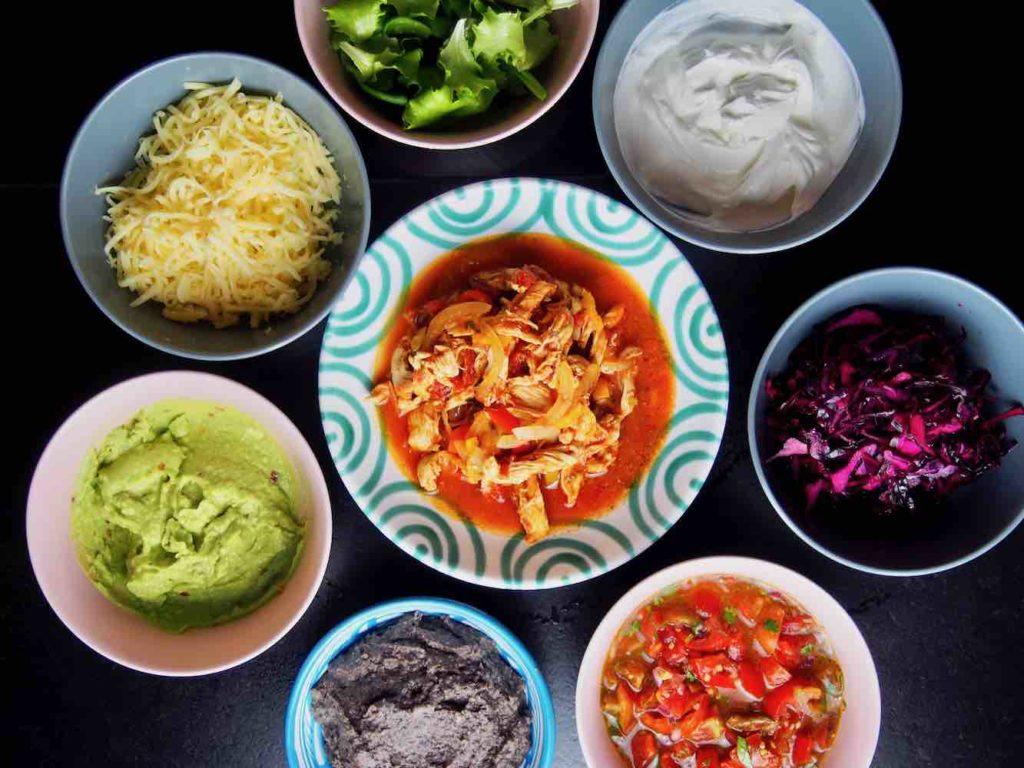 Tacos de Pollo Zutaten